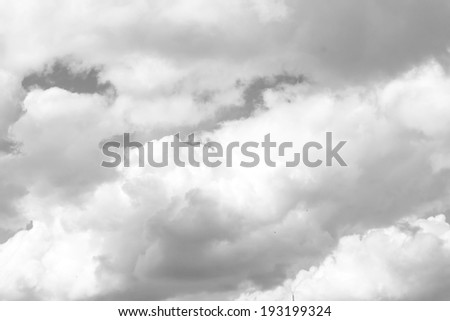 black and white clouds