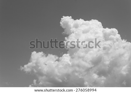 black and white clouds on sunny day