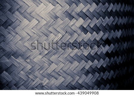Black and white color Bamboo grass woven flat mat from natural bamboo background - stock photo