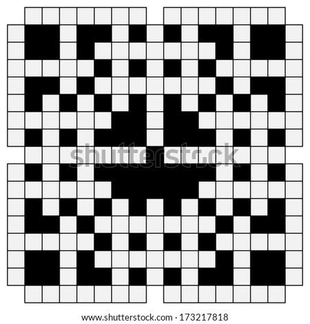 black and white crossword - stock photo