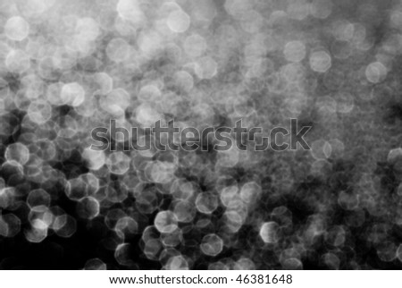 Black and White defocused bokeh circles - stock photo
