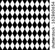 Black and White Diamond Shape Fabric Background that is seamless and repeats - stock
