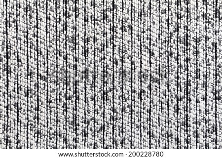 Black and White Fabric Texture - stock photo