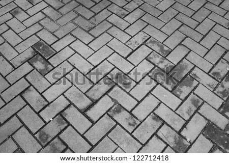 black and white floor - stock photo