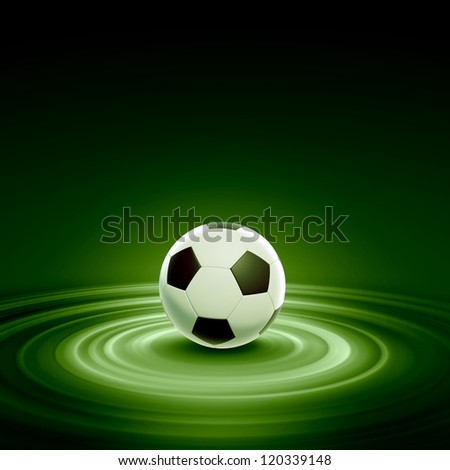 Black and white football or soccer ball, colour illustration - stock photo
