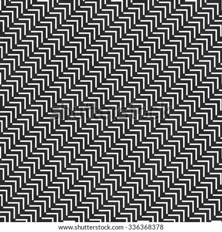 Black and White Geometric Design Tile Pattern Repeat Background that is seamless and repeats - stock photo