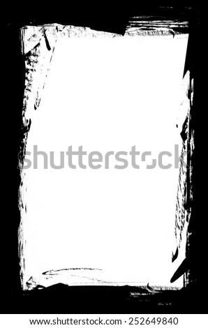 Black and White Grunge Border - stock photo