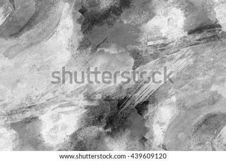 Black and white hand drawn watercolor background for backgrounds or textures