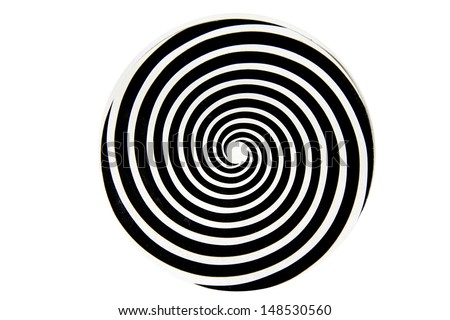 Black and white hypnotic whirlpool shape  - stock photo