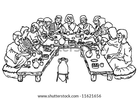lent last supper colouring pages page 2