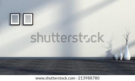 Black and white interior color - stock photo