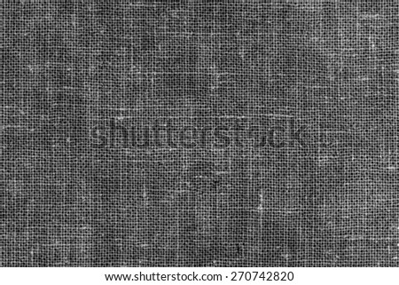 Black and White Linen Texture or Background/ Black and White Linen - stock photo