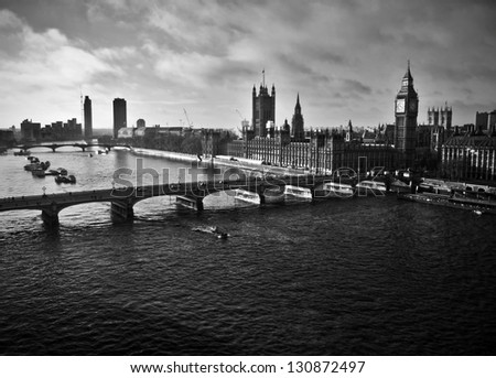 London Skyline Black And White Stock Images, Royalty-Free ...  London Skyline Black And White