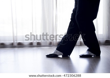 Black and white male dancing shoes