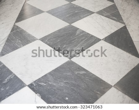 Black and white marble checkered floor background texture
