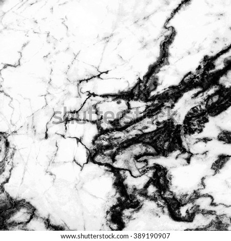 Black and white marble pattern background for decoration.