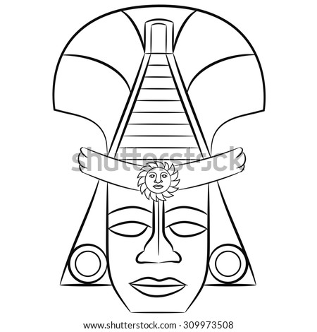 Aztec mythology stock photos images pictures for Aztec mask template
