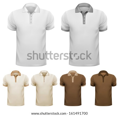 Black and white men t-shirts. Design template.  - stock photo