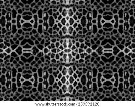 Black and white mesh pattern background - stock photo