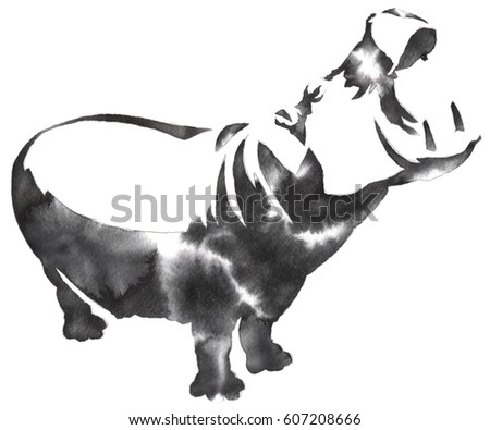 Black White Monochrome Painting Water Ink Stock ...  Black White Mon...