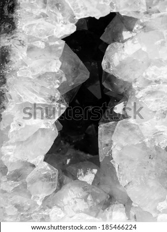 Black and white natural gemstones - textures  - stock photo
