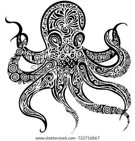 tribal octopus stock images royaltyfree images amp vectors