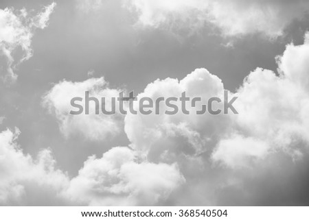 Black and white of sky with clouds, use for a background - stock photo