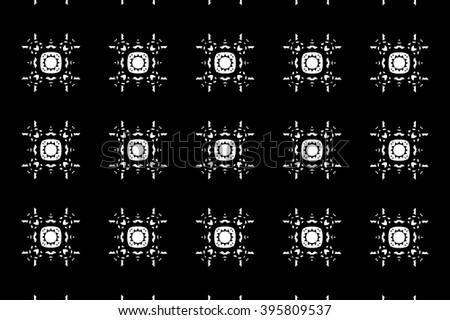 Black-and-white ornament with patterns. k