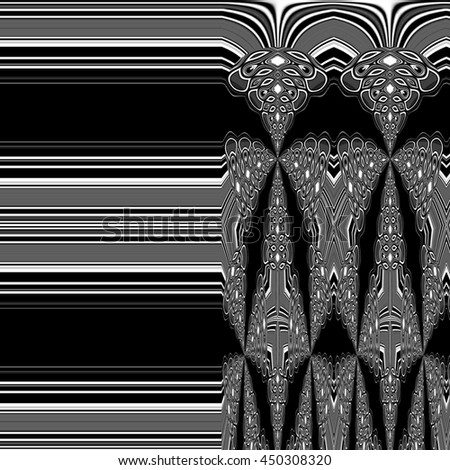 Black and white pattern. Abstract background
