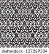 Black and white pattern, seamless lace texture. Vector version available in my portfolio - stock photo