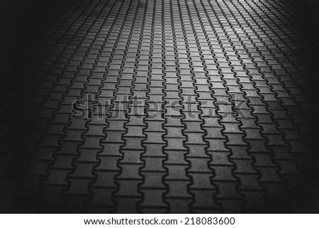 black and white pavement background - stock photo
