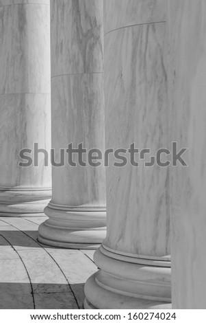 Black and White Pillars - stock photo