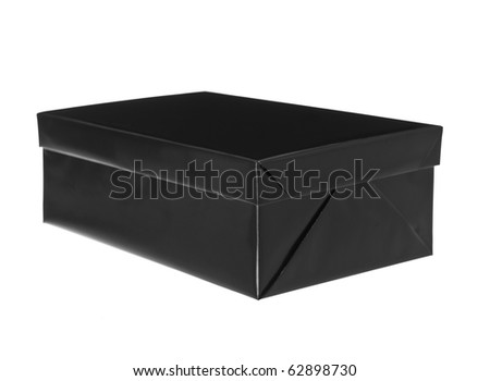 Black and white present isolated on white background