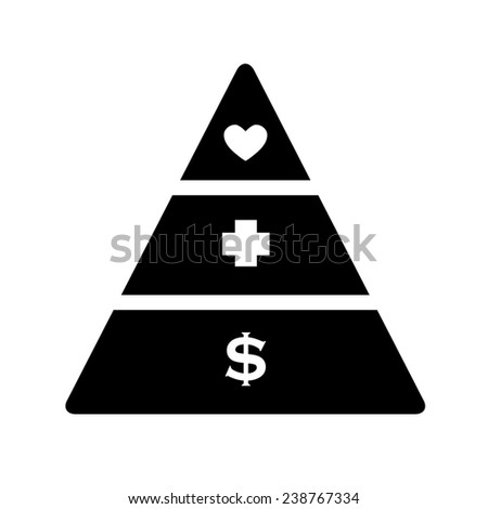 Black and white raster illustration concept of preferences in life in which the most important thing is love. - stock photo
