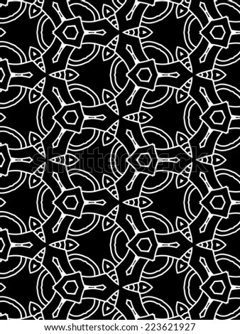 black and white retro abstract pattern