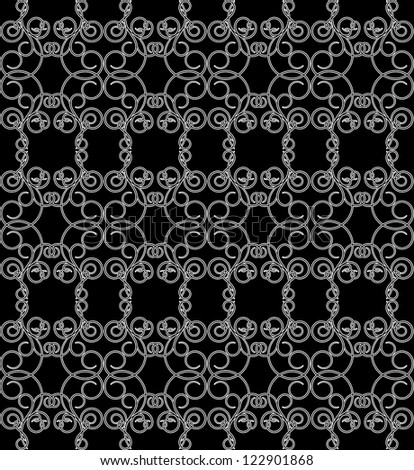 Black and white seamless pattern. Raster copy of vector image