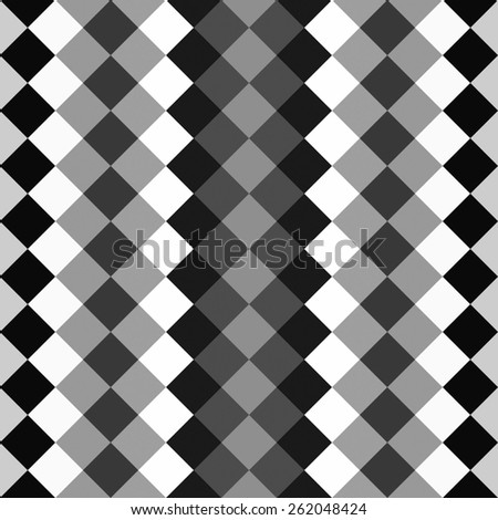 black and white seamless pattern with polygons, geometric and lines - stock photo