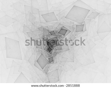 Black and White Shapes - stock photo