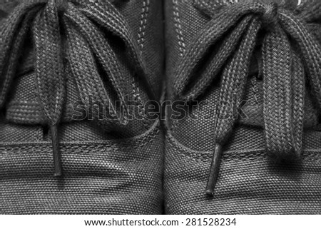 Black and white shoe. - stock photo