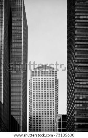 Black and white skyscraper - stock photo