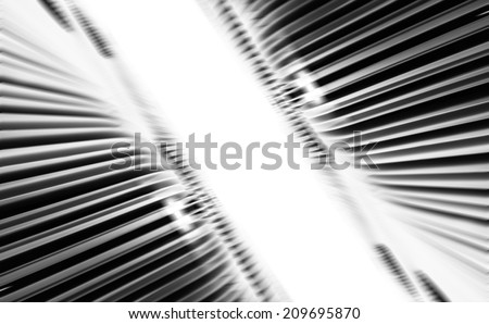 Black and white smooth abstract background - stock photo