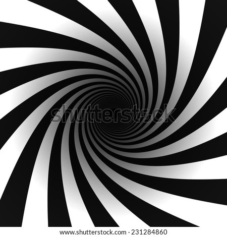 black and white spiral - stock photo