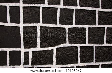 Black and White Square Wall Janitzio Island Patzcuaro Lake Mexico