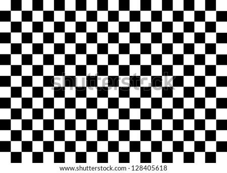 Black and White Squares - stock photo
