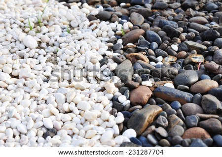 black and white stone - stock photo