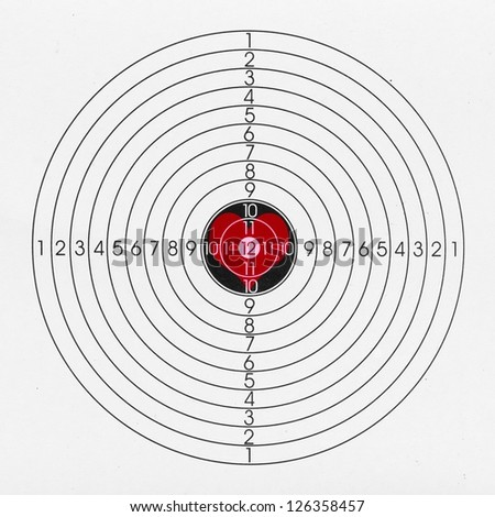 Black and white target with heart in the middle