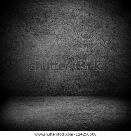black and white texture or blank stage space, grey background