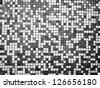 Black and white tiles texture - stock photo