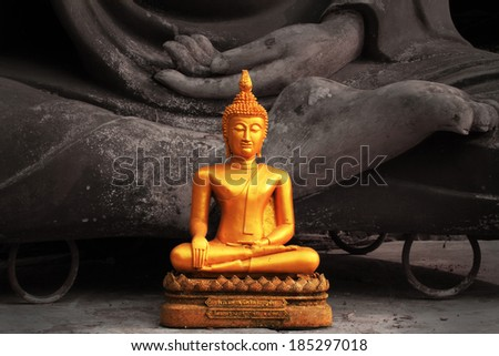 Black and white tone Buddha ,Chiang mai ,Thailand - stock photo