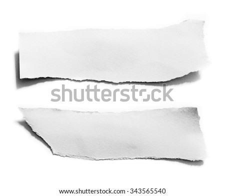 black and white torn paper - stock photo